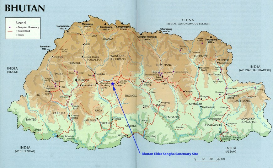 Bhutan Site Map
